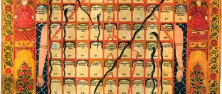 The origin and evolution of Snakes and Ladders